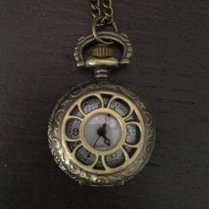 Jewelry - Pocket watch style long necklace.